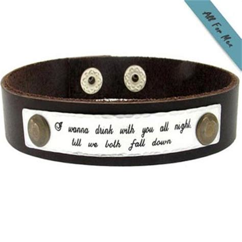 engravable quotes quote engraved bracelet for personalized leather cuff