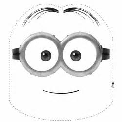 minion mask template free minion mask coloring pages