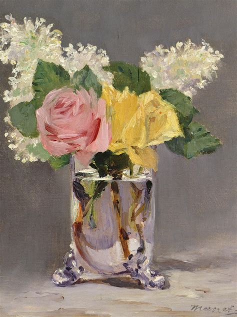 January Home Decor by Lilacs And Roses Painting By Edouard Manet