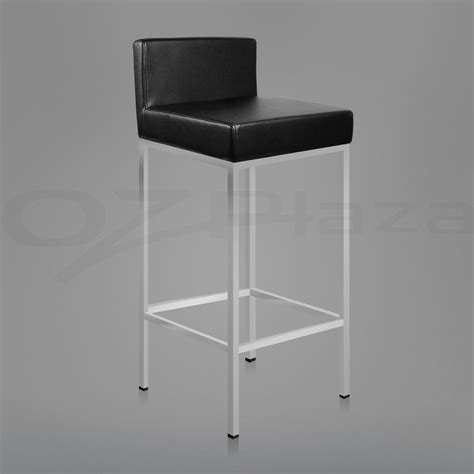 black leather bar stools contemporary kitchen angus 2x pu leather bar stool modern kitchen barstool chair