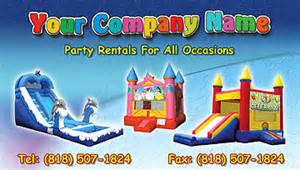bounce house business cards rental business card usa