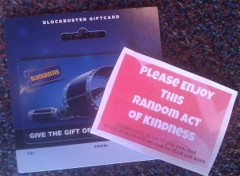Blockbuster Gift Card Balance - 10 free or low cost random acts of kindness mamas on a dime