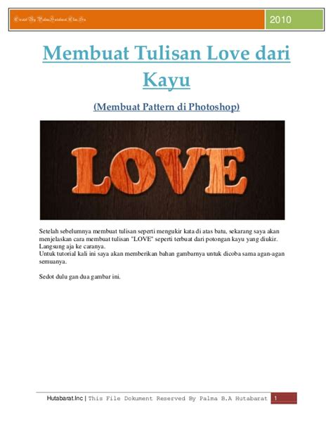 membuat video tulisan mengetik membuat tulisan love dari kayu mode pattern