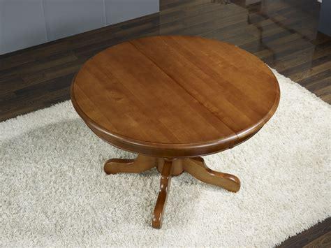 table ronde pieds central sabine en merisier massif de
