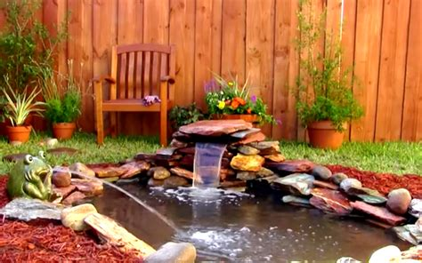 how to build a small pond in your backyard easy way to add a small waterfall to your pond garden
