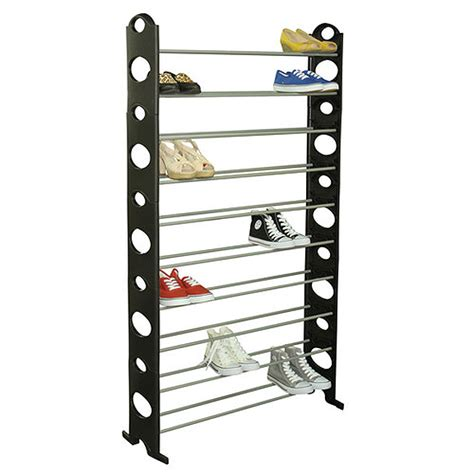 home collections 50 pair show tower shoe rack new open