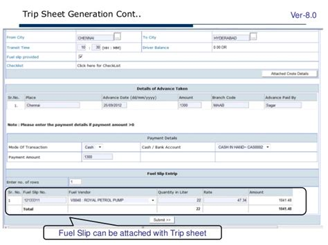 Trip Generation Spreadsheet by Webxpress Management Solution