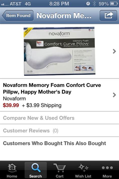 novaform comfort curve pillow novaform comfort curve pillow johnmilisenda com
