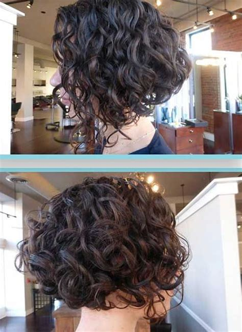 short permed stacked hairstyles best 25 curly bob hairstyles ideas on pinterest