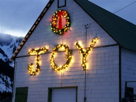decorating a steel barn for christmas folks listen singing