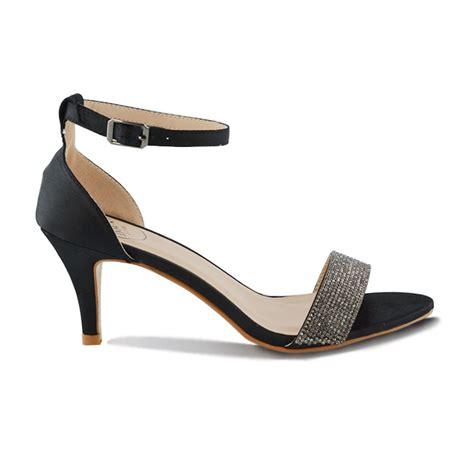 Sandal 1679 Spon 7cm Sz 36 40 womens sandals low heel stiletto peeptoe diamante ankle shoes ebay