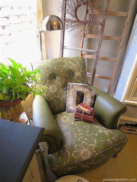 diy chalk paint sofa hometalk stenciling leather club chair