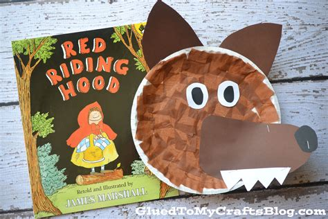 Wolf Paper Plate Craft - paper plate wolf kid craft