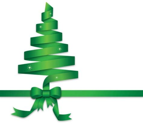 free green ribbon christmas tree vector titanui