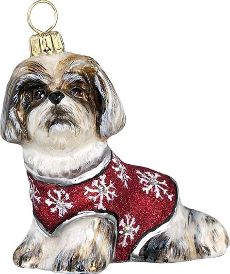 shih tzu sweater shih tzu with snowflake sweater