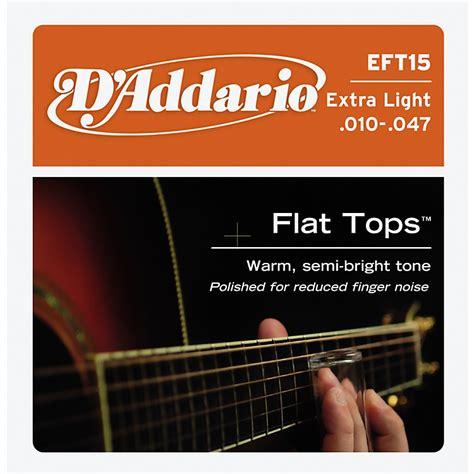 Senar Gitar D Addario Akustik 011 d addario eft15 flat top pb light acoustic guitar