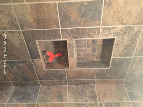 tile pictures shower niche diy