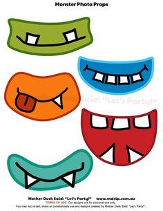 free printable monster photo booth props monsters mouth and eyes digital clipart little monster