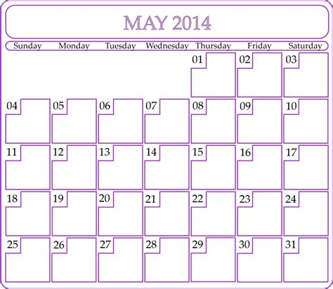 printable monthly calendar may 2014 image gallery may 2014