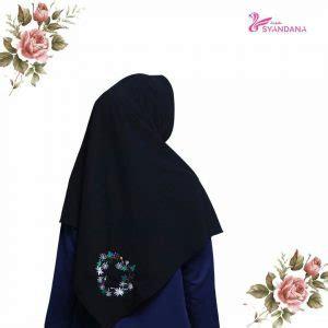 alifa jipon segi empat jual jilbab segi empat quary black syandana