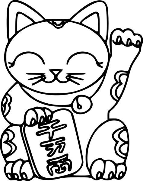 chinese cat coloring page coloriage maneki neko 224 imprimer