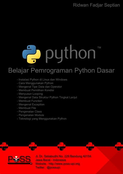 pemrograman python dasar