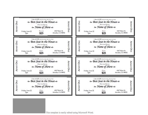 Template For Tickets by Event Ticket Template 3 That S So Random