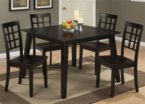 espresso dining room set simplicity espresso square dining room set 552 42 jofran