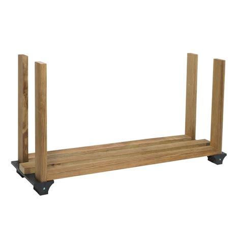 shop 2x4basics black polyresin firewood rack brackets at