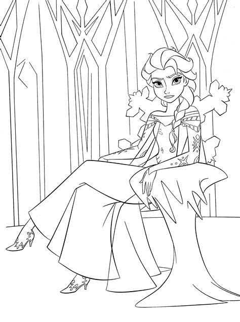 walt disney coloring pages queen elsa walt disney