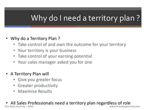 sales territory business plan template territory planning the sales journey
