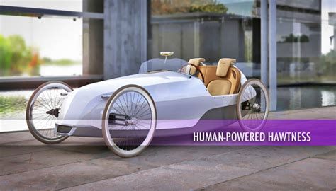 adult pedal powered cars pedal power sc 1 biposto concept brings the sexy