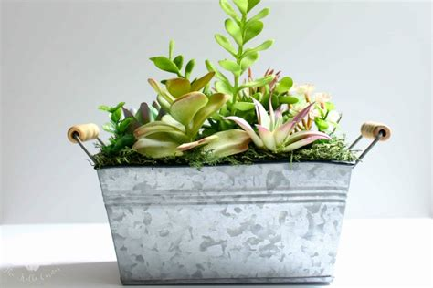 diy succulent planter diy faux succulent planter domestically creative