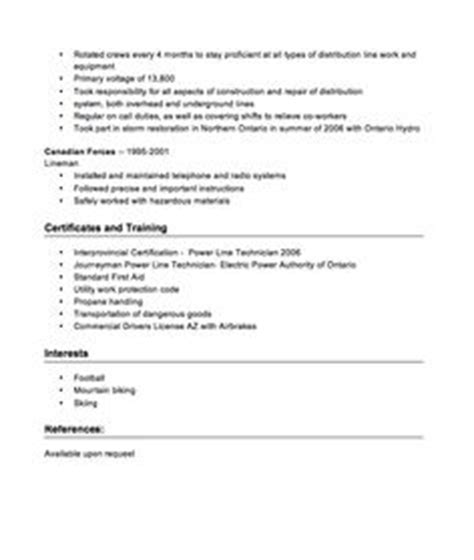 Sle Resume Power Line Technician Sle Of Resignation Letter Http Resumesdesign Sle Of Resignation Letter This And