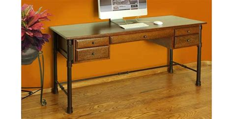 rustic home office desk rustic home office desk rustic writing desk with metal base