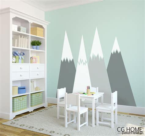 Kinderzimmer Junge Berge by G 211 Ry Dekoracja Naklejki Ochrona ściany Dziecko Tapety