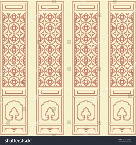 pattern window frame vector of traditional chinese classic window door screen