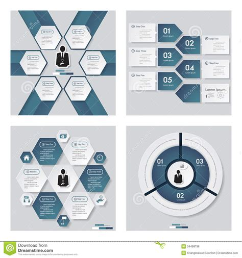 blue layout vector collection of 4 blue color template vector background