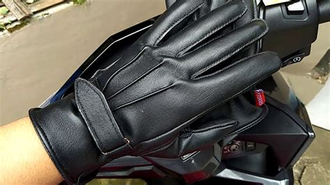Sarung Tangan Kulit Racing Velcro sarung tangan kulit velcro gloves black frians leather