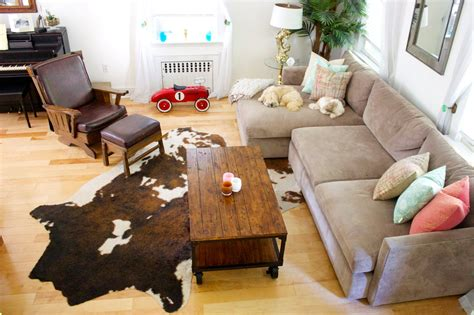 Small Cowhide Rugs Uk Furniture Floors And Rugs Furry Brown Shaggy Rugs For