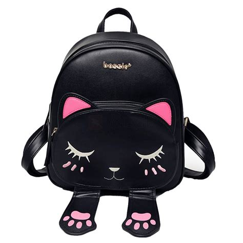 Tas Rossa Backpack 3 In 1 mini 3d cat pu leather school bag travel backpack for