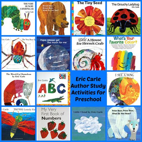 eric carle picture books eric carle theme and author study activities for preschool
