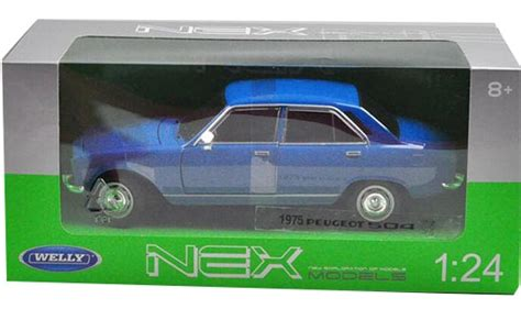 Diecast Welly Nex Coupe 407 Peugeot 1 32 blue white 1 24 welly diecast 1975 peugeot 504