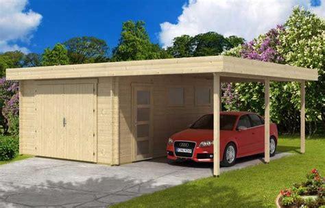 carport garage kombination holz die holzgarage mit carport