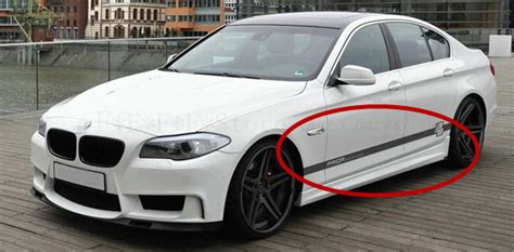 Sticker Bmw Strips Side Decal Big All Varian car styling side skirts vinyl decal stickers sports car