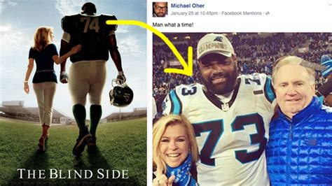 Blind Side Family Essay by Michael Oher Celebrates Panthers Win With Blindside Family His S Victory Words Are Oh