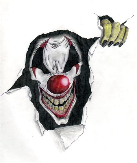 the gallery for gt evil clown tattoos drawings evil drawings of clowns www imgkid com the image kid