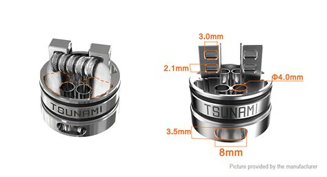 Tsunami Rda 24mm 22 22 authentic geekvape tsunami 24 rda rebulidable atomizer stainless steel 24mm