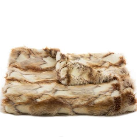 faux fur coverlet brandy fox faux fur throw coverlet copper scenario home