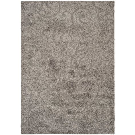 rugs california safavieh california shag gray 11 ft x 15 ft area rug sg151 8484 1115 the home depot